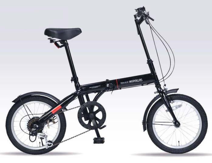 折り畳み自転車 16インチ6段変速折りたたみ自転車 マイパラス M-103 (ブラック)(MYPALLAS M-103) 折畳み自転車【送料無料・メーカー直送・代引不可】