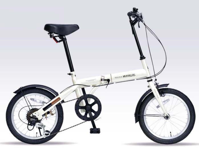 折り畳み自転車 16インチ6段変速折りたたみ自転車 マイパラス M-103 (アイボリー)(MYPALLAS M-103) 折畳み自転車【送料無料・メーカー直送・代引不可】