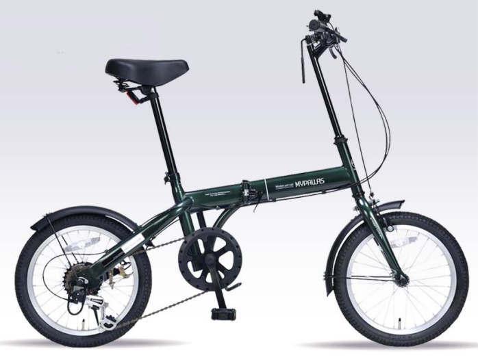 折り畳み自転車 16インチ6段変速折りたたみ自転車 マイパラス M-103 (ダークグリーン)(MYPALLAS M-103) 折畳み自転車【送料無料・メーカー直送・代引不可】
