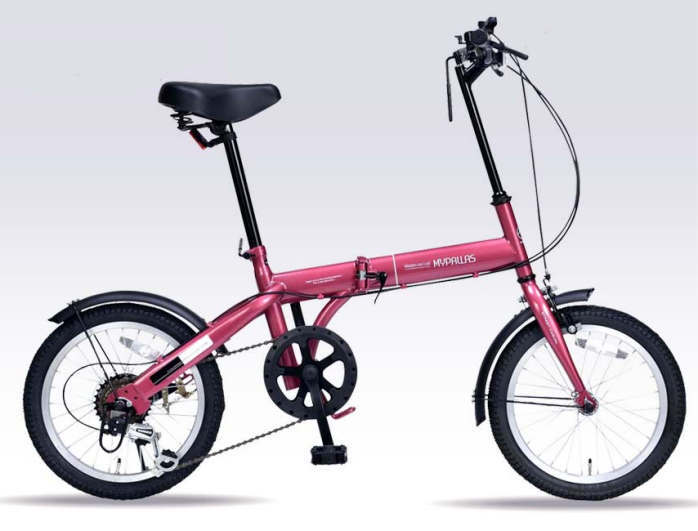 折り畳み自転車 16インチ6段変速折りたたみ自転車 マイパラス M-103 (ルージュ)(MYPALLAS M-103) 折畳み自転車【送料無料・メーカー直送・代引不可】