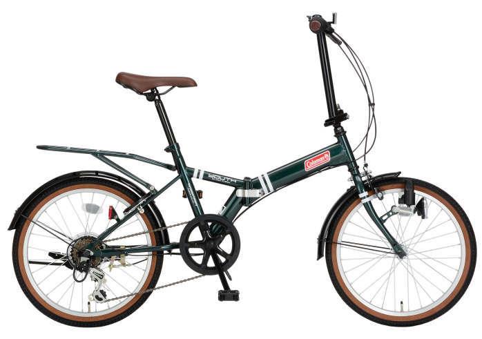 折りたたみ自転車 コールマン FDB206 ユース (グリーン) 3321 Coleman FDB 206 YOUTH フォールディングバイク サギサカ SAGISAKA