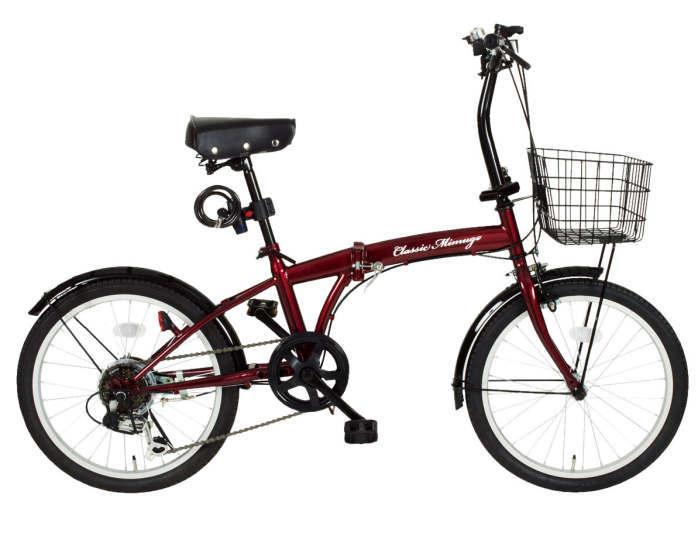 ミムゴ クラシック ミムゴ FDB20 6SG-RL (クラシックレッド)折り畳み自転車 Classic Mimugo FDB20 6SG-RL (MG-CM206G-RL) フォールディングバイク 365 【送料無料・メーカー直送・代引き不可】