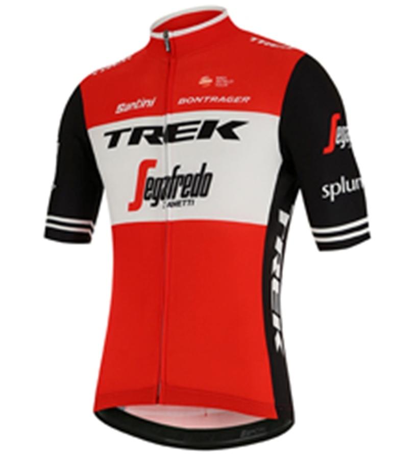TREK-SEGAFREDO BLEND S/S RED (Mサイズ) 半袖シャツ サイクル ウェア / Santini