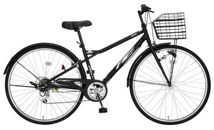 カゴ、ライト、フェンダー付きクロスバイク アメリカンイーグル LCR276 オースティン(ブラック)2449 AE LCR276 AOSTIN クロスバイク サギサカ SAGISAKA