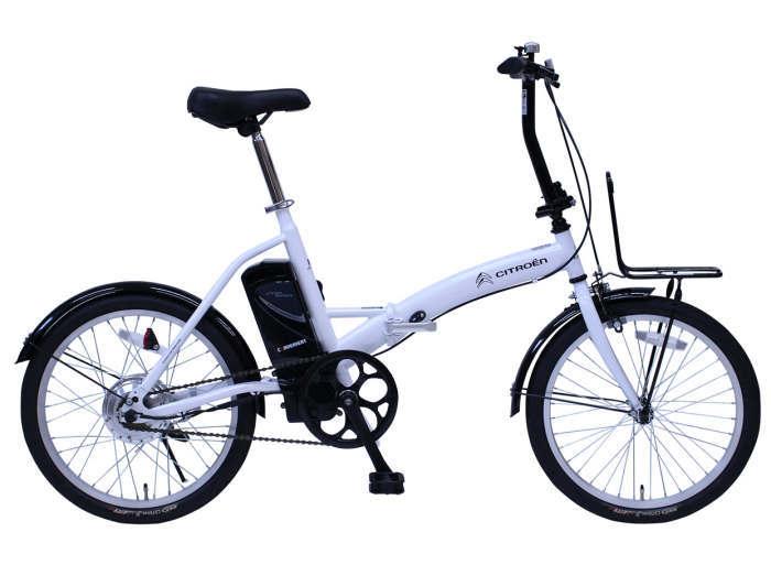 ミムゴ シトロエン 電動アシストFDB20EB (ホワイト)折り畳み自転車 CITROEN シトロエン20インチ (MG-CTN20EB) フォールディングバイク 365