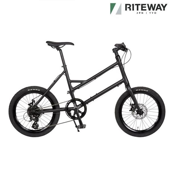 ゆったりマイペース 期間限定 激安☆超特価 忙しない日常だからこそ 自分のペースで ミニベロ ライトウェイ グレイシア GLACIER マットブラック 小径自転車 2021 RITEWAY