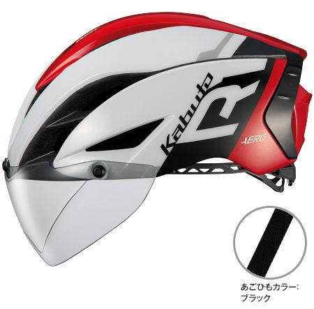 OGK KABUTO AERO-R1 (G-1 ホワイトレッド) サイクリングヘルメット オージケー カブト エアロ アールワン 自転車