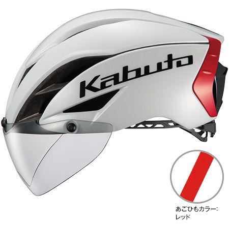 OGK KABUTO AERO-R1 (パールホワイトレッド-3) サイクリングヘルメット オージケー カブト エアロ アールワン 自転車