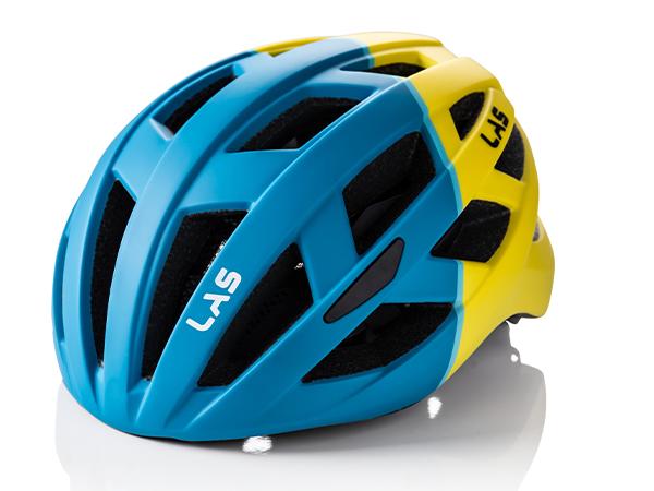 LAS ENIGMA サイクリング ヘルメット (マットブルー/イエロー) ラス エニグマ 自転車