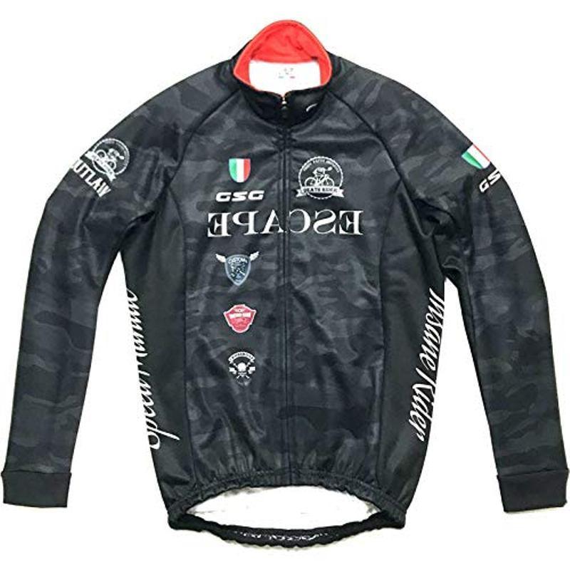 7-ITA(セブン・アイティーエー)メンズ サイクル ウェア GSG Face Outlaw Jacket Black Camo ウインタージャケット (Lサイズ)セブンイタリア