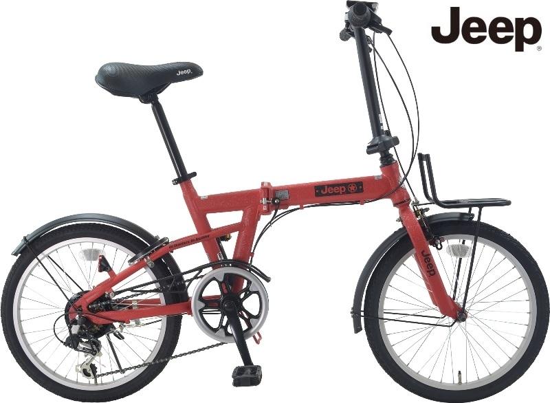 折りたたみ自転車 JEEP (ジープ)JE-206G / RED