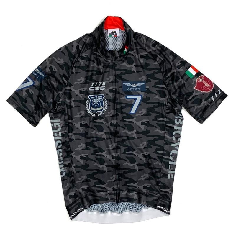 7-ITA(セブン・アイティーエー)メンズ サイクル ウェア  7ITA Army III Jersey ブラックカモ(Mサイズ)セブンイタリア