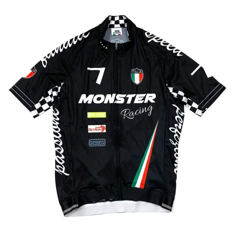 7-ITA(セブン・アイティーエー)メンズ サイクル ウェア  7ITA Seven Racing II Jersey Monster Black ブラック(Mサイズ)セブンイタリア