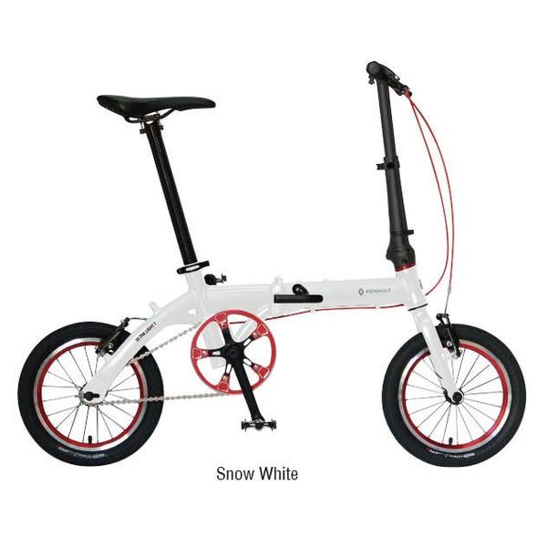 送料無料 折り畳み自転車 RENAULT ULTRALIGHT7 14インチ コンパクト折りたたみバイク ホワイト(31990) ルノー 02P03Dec16