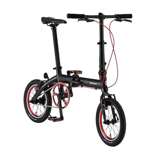 折り畳み自転車 RENAULT ULTRALIGHT7 14インチ コンパクト折りたたみバイク ブラック(31989) ルノー 02P03Dec16