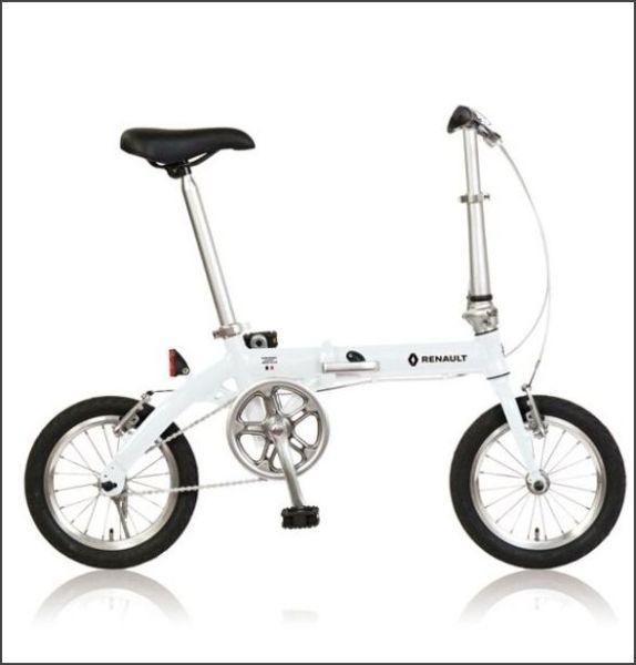 折り畳み自転車 RENAULT LIGHT8 14インチ AL折りたたみバイク(33832) AL-FDB140 ホワイト ルノー