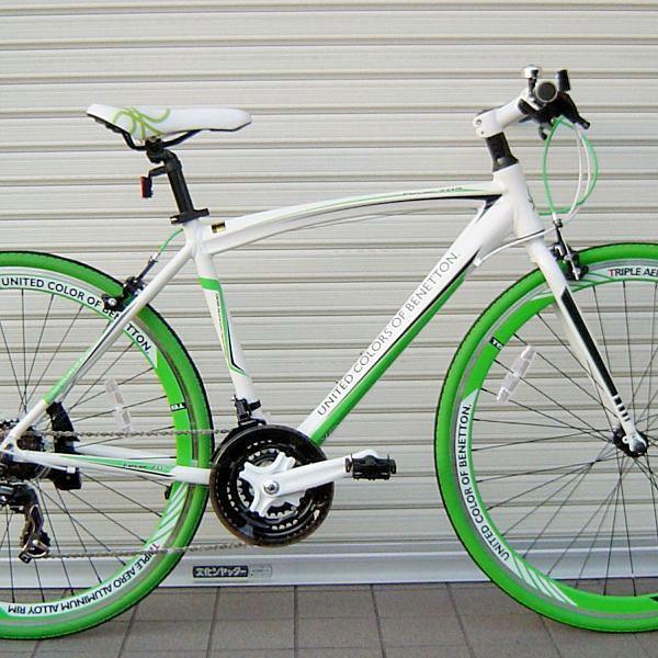 クロスバイク ベネトン 700C クロス 21S (ホワイト) 2018 BENETTON CROSS 21段変速