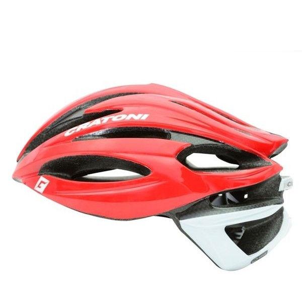 CRATONI / クラトーニ / C-SHOT シーショット / Red-white glossy (サイクルヘルメット)