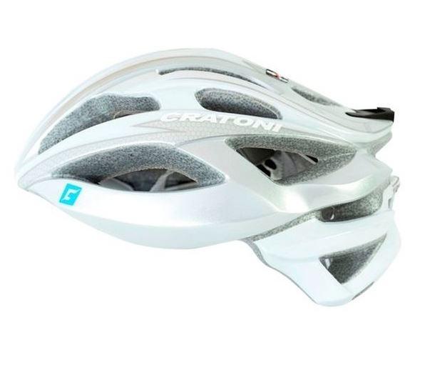 CRATONI / クラトーニ / C-BOLT シーボルト / Silver-white glossy (サイクルヘルメット) 02P03Dec16