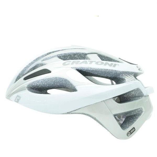 CRATONI / クラトーニ / C-BREEZE シーブリーズ / White silver glossy (サイクルヘルメット)