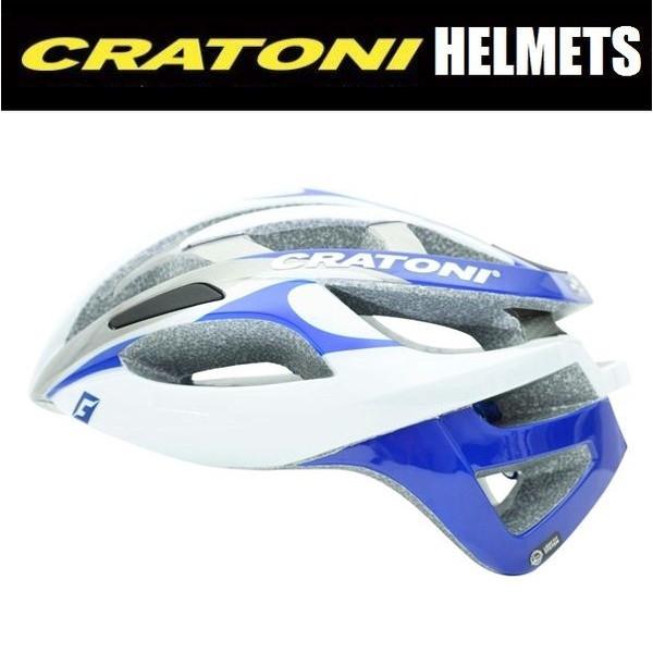 CRATONI / クラトーニ / C-BREEZE シーブリーズ / White-blue silver glossy (サイクルヘルメット) 02P03Dec16