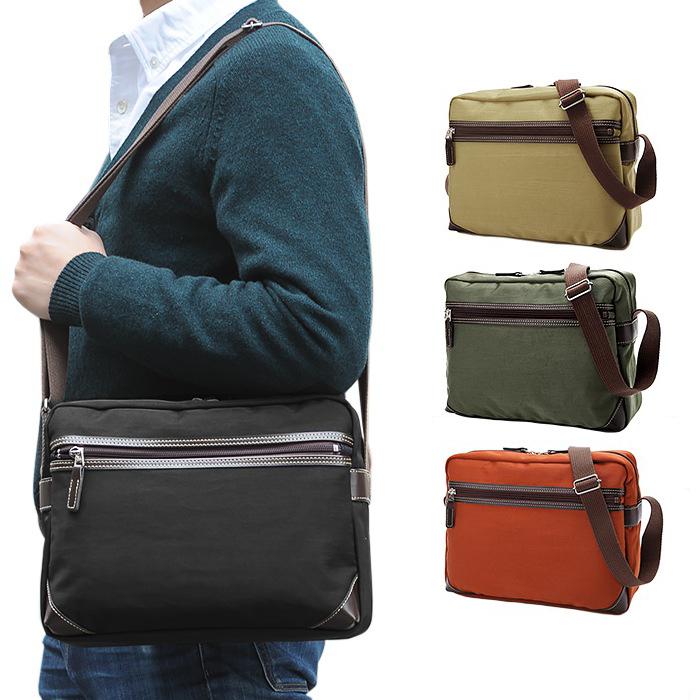 ショルダーバッグ カジュアルバッグ 黒 カーキ ベージュオレンジ 日本製 豊岡製鞄 B5 #33733 ブロンプトン BROMPTON