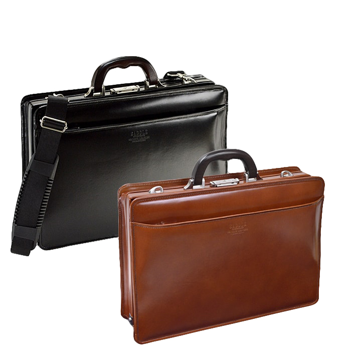 ダレスバッグ ビジネスバッグ 日本製 豊岡製鞄 牛革 本革 レザー メンズ A5 黒 茶 #22305 サドル SADDLE