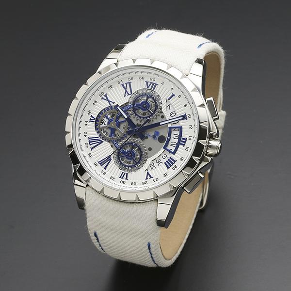 腕時計【Salvatore Marra】サルバトーレマーラ SM13119D-SSWHBL/WH