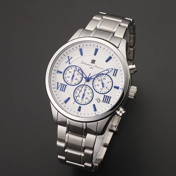 腕時計【Salvatore Marra】サルバトーレマーラ SM15102-SSWHBL
