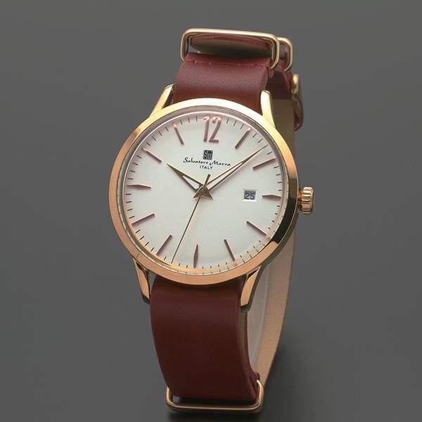 腕時計【Salvatore Marra】サルバトーレマーラ SM17116-PGWH