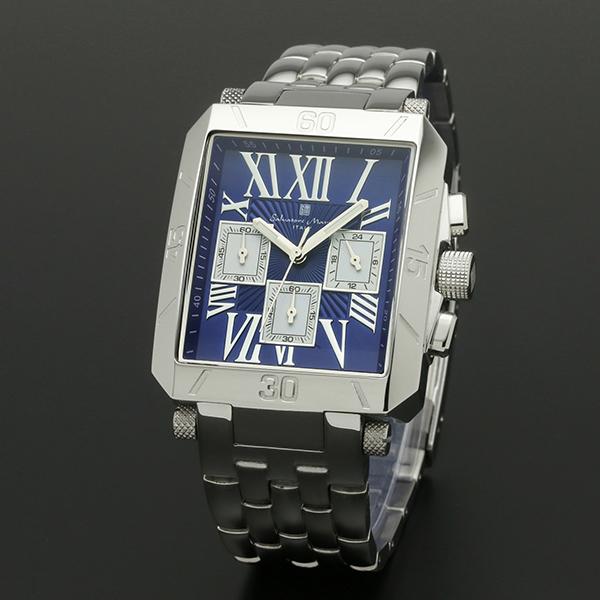 腕時計【Salvatore Marra】サルバトーレマーラ SM17117-SSBLSV