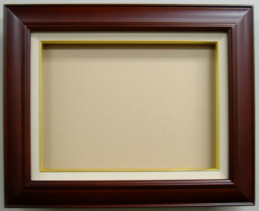 【キャッシュレス5%還元】油絵専用額縁・セピア色F10サイズ455X530ミリ9,975円