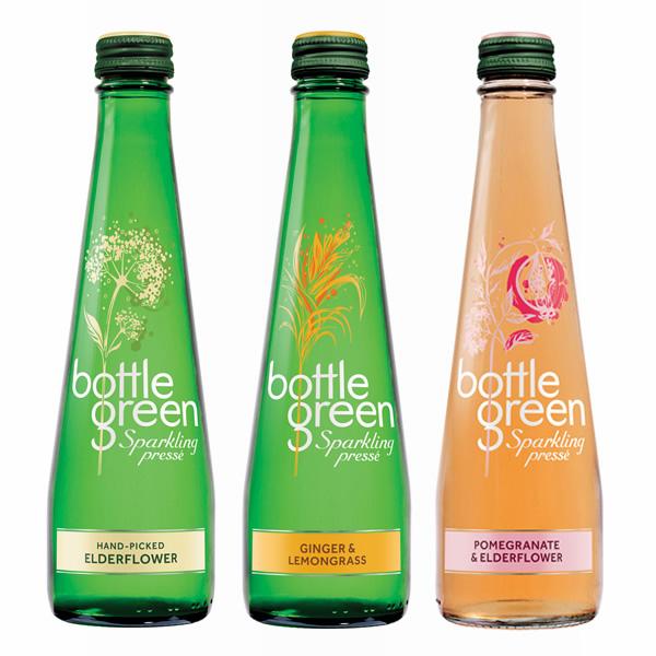 ボトルグリーン(BOTTLE GREEN) スパークリング ミックス 発泡炭酸水 グラス(ビン) 1セット(275ml×12本×3種) [硬度67/軟水/イギリス産]【楽ギフ_のし】