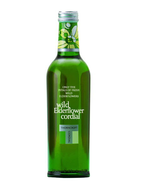 ソーンクロフト ハーブコーディアル(THORNCROFT HERB CORDIAL) エルダーフラワー グラス(ビン) 1ケース(375ml×12本) [イギリス産]【楽ギフ_のし】