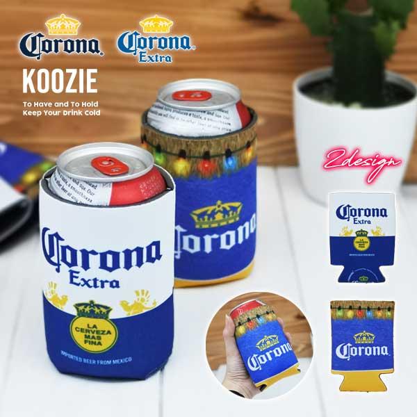 アメリカ直輸入 CORONA グッズ 公式ライセンス ネコポス便OK コロナビール クージー 缶クージー 缶クーラー 全2種 ボトルホルダー 缶 コロナエキストラ ドリンクホルダー メキシコ雑貨 カバー 定番スタイル extra 保冷 corona アウトドア メキシコビール コロナ 保温 新色