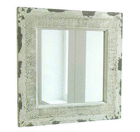 ホワイト・アンシェントミラー鏡 壁掛け ミラー アンティーク インテリア小物 CO-IZ-87smtb-k w2