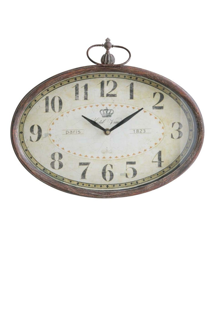 オテルビュー・オーバルクロック時計 とけい クロック 壁掛け アンティークco-bg-70