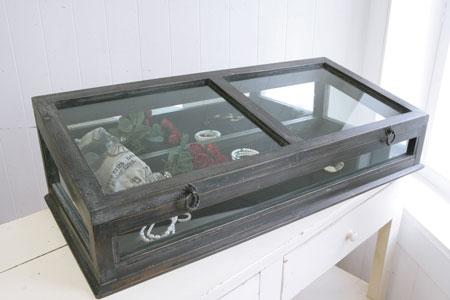 ノアール・ガラスショーケースショーケース ディスプレイ 小物入れ アンティークco-ix-48