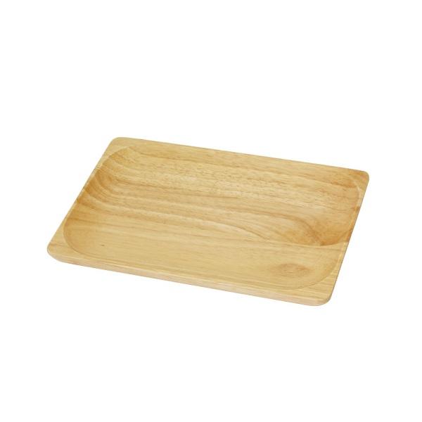 プレート トレー 木製 超定番 ウッドプレート レクタングル 長方形 おしゃれ シンプル 上品 ma-1003806-01 ナチュラル S ラバーウッド 木製食器 レクタングルプレート トレイ お盆