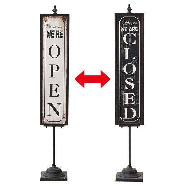 【メーカー直送】【代引き不可】リバーシブルスタンドサイン OPEN&CLOSED  sp-drdy4460
