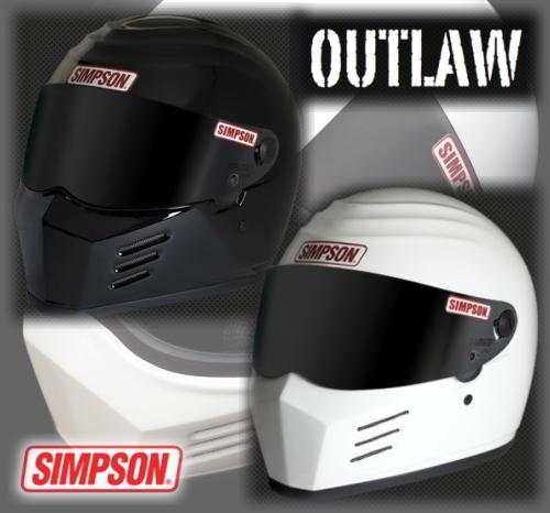 【SINPSON[シンプソン]】 OUTLAW アウトロー フルフェイスヘルメット ホワイト 白