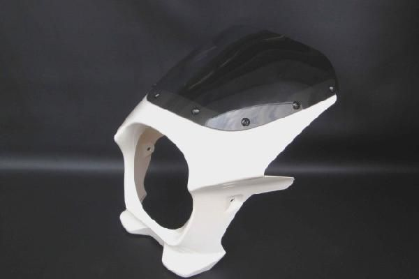 【ZEPHYR400 ゼファー400】 ビキニカウル 白/ホワイト 【スタンダードスクリーン】 180パイ 汎用