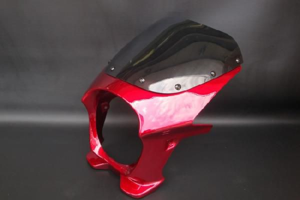 【RZ250 RZ350】 ビキニカウル 赤/レッド 【スタンダードスクリーン】 180パイ 汎用