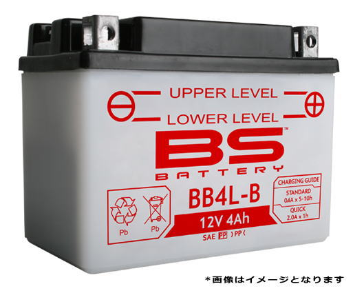 大特価品 BSバッテリー BB4L-B (YB4L-B GM4-3B FB4L-B)互換 バイクバッテリー 液別開放式 キャッシュレス5%還元