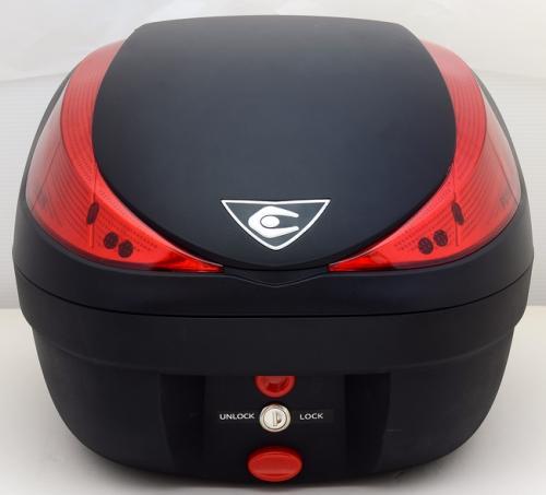 【送料無料】COOCASE[クーケース] V28 FUSION[フュージョン] SPEC-F2 無塗装ブラック【リアボックス】【リアケース】