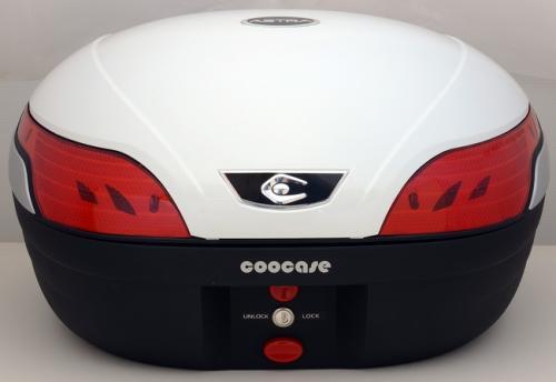 【納期未定】【送料無料】COOCASE[クーケース] S48 ASTRA[アストラ] SPEC-F2 パールホワイト【リアボックス】【リアケース】 キャッシュレス5%還元