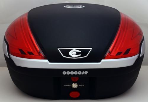 【送料無料】COOCASE[クーケース] V50 REFLEX[リフレックス] Basic 無塗装ブラック【リアボックス】【リアケース】 キャッシュレス5%還元