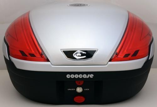 【送料無料】COOCASE[クーケース] V50 REFLEX[リフレックス] Basic メタリックシルバー【リアボックス】【リアケース】 キャッシュレス5%還元