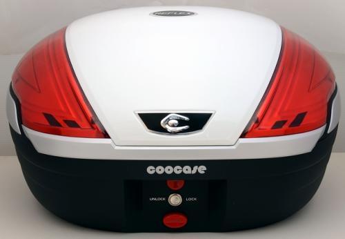 【送料無料】COOCASE[クーケース] V50 REFLEX[リフレックス] SL パールホワイト【リアボックス】【リアケース】 キャッシュレス5%還元
