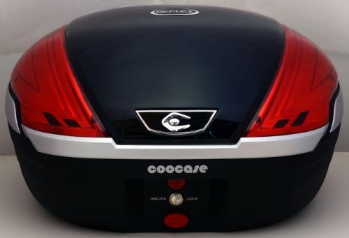 【送料無料】COOCASE[クーケース] V50 REFLEX[リフレックス] SPEC-F2 メタリックブラック【リアボックス】【リアケース】 キャッシュレス5%還元